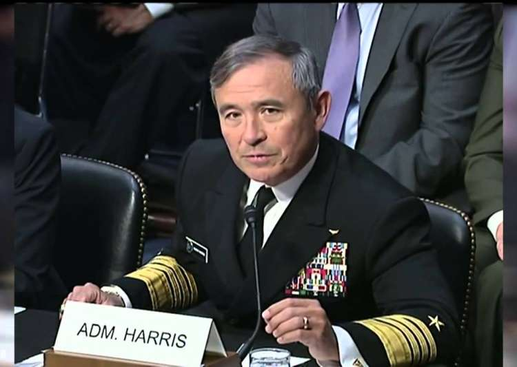 Admiral Harry Harris said US was ready to help India