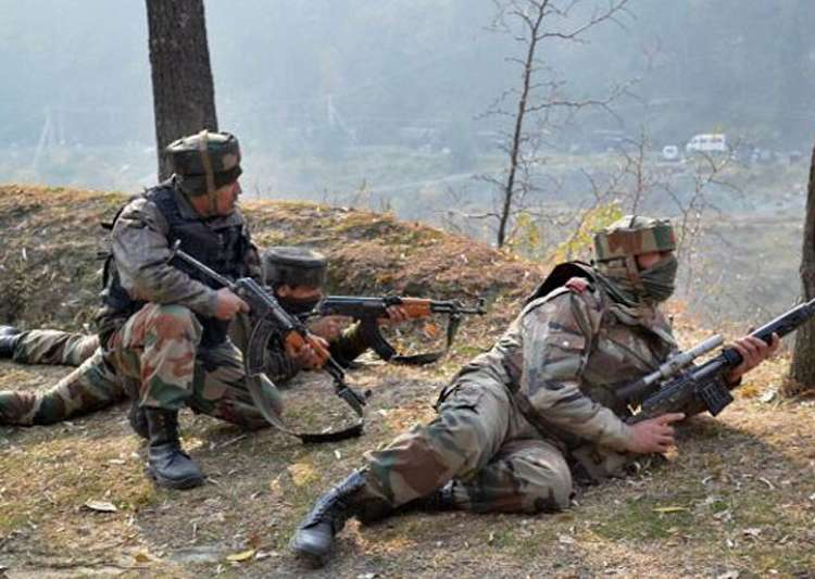 Three suspected militants, one civilian killed in India-held Kashmir