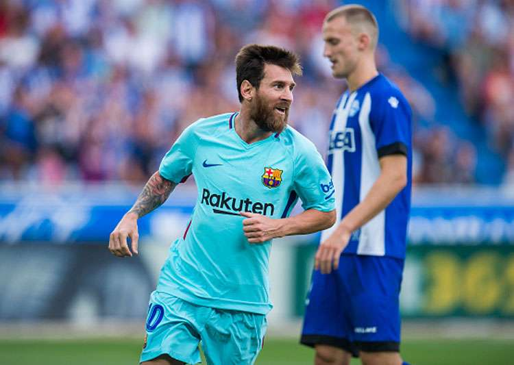 Lionel Messi double gives FC Barcelona win at Deportivo Alaves