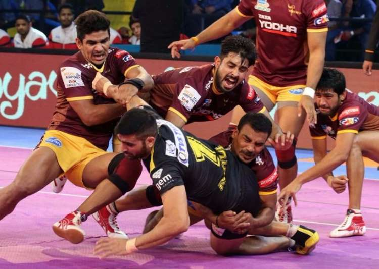 Image result for Vivo Pro Kabaddi League 2017: UP Yoddhas crushes Telugu Titans by 39-32