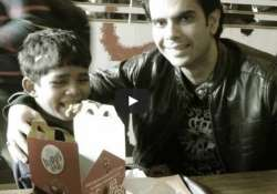 5 year old kid goes to mcdonald s for the first time his