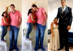 love story of a tall man and a very short lady