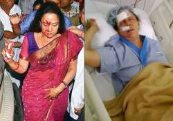 hema malini recovers in hospital after the fatal accident