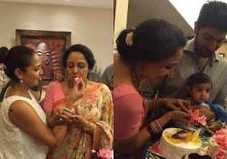 hema malini s family time on birthday