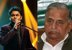 with a.r. rahman crooning mulayam singh s b day to ring in