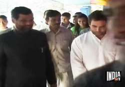 rahul watches debut movie of paswan s son