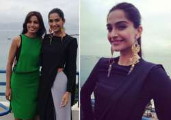 sonam kapoor blazes in indian attire at cannes view pics