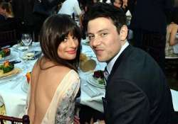 lea michele still mourning over on monteith s death