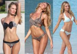 candice swanepoel sizzles in summer range of bikinis