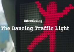 this dancing red light would teach you road safety