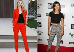 power pantsuits crop tops biggest hollywood fashion trends