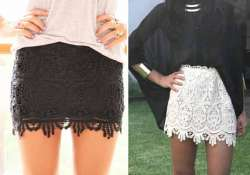 update spring wardrobe with lace skirt spring coat