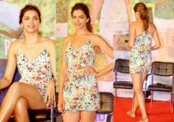 deepika looks radiant in forever 21 dress at finding fanny