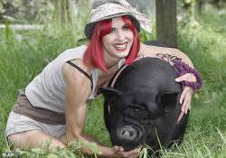 british woman s best buddy is her pig