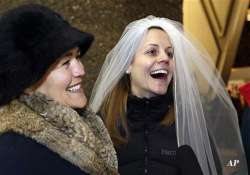 dozens of same sex couples get marriage licenses in