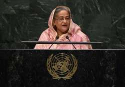 no development without peace security bangladesh pm