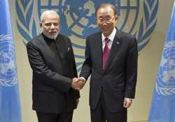 count on india s leadership in south asia un chief to modi- India Tv