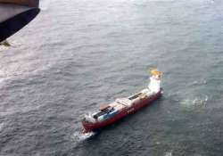 container ship towed away from canadian coast
