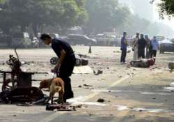 50 killed in series of blasts in china s xinjiang province
