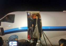 sushma swaraj reaches israel on 2 day visit to review