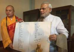 modi s temple message confuses monks in china