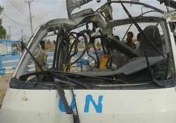 seven killed in attack on un vehicle in somali