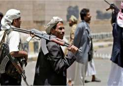 yemeni planes carry out airstrikes on town seized by