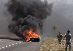 lamborghini catches fire on test drive in us