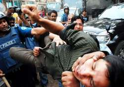 one injured as homemade bombs explode in shahbagh square