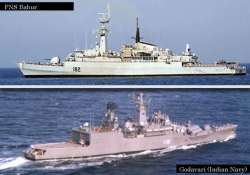indian navy denies its warship brushed with pak frigate