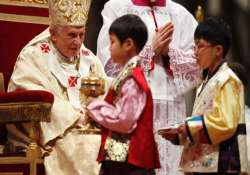 spare time for poor children and god pope tells xmas mass
