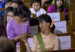suu kyi condemns crackdown on protesters at myanmar copper