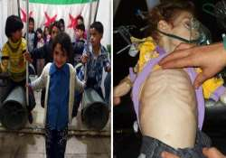 syria unrest children are forced to play with rockets and