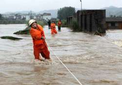 torrential rains trigger floods in china