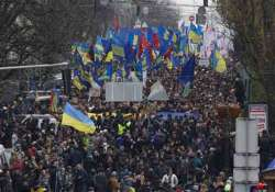 ukraine tens of thousands march through kiev
