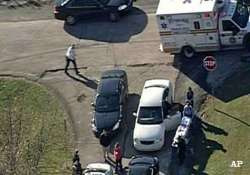 3 students shot near pittsburgh high school gunman sought
