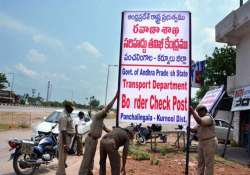 andhra pradesh to open checkposts on telangana border