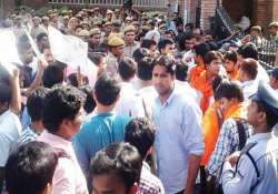 delhi university website crashes chaos protests on first