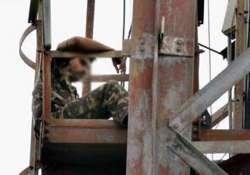 four hour long drama as army jawan goes up cellphone tower