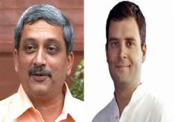 goa cm takes dig at rahul over poor roads in amethi