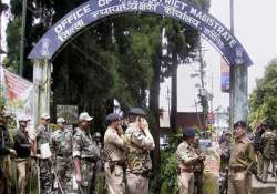 gorkhaland demand gjm workers try to block dm s office four