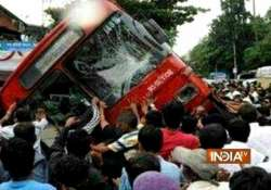 puneites tilt city bus to rescue two trapped boys