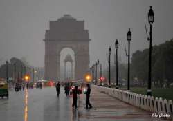 overcast conditions in delhi rain likely tomorrow