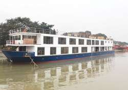 luxury river cruise sails up to varanasi from patna