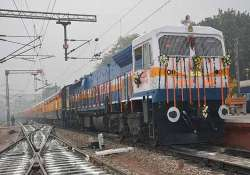 rail minister flags off shatabdi service to bhatinda