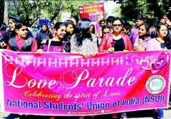 valentine day delhi students protest hindu mahasabha s