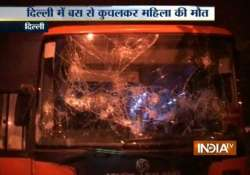 woman mowed down by dtc bus irate locals go on rampage