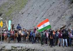 another batch of 418 pilgrims leave jammu for amarnath