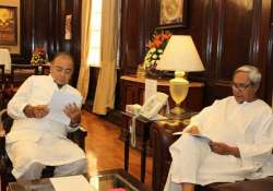 naveen meets jaitley seeks compensation for cst loss