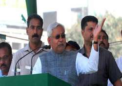 nitish highlights state s role in amu campus cong fumes at